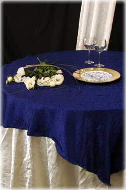 royal blue overlay with mother of pearl underlay
